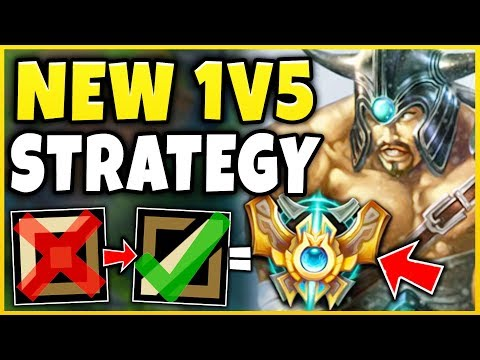 LITERAL 1V5 STOMP WITH TRYNDAMERE MID LANE?!? RANK 1 TRYND 1V5 MID STRATEGY! - League of Legends