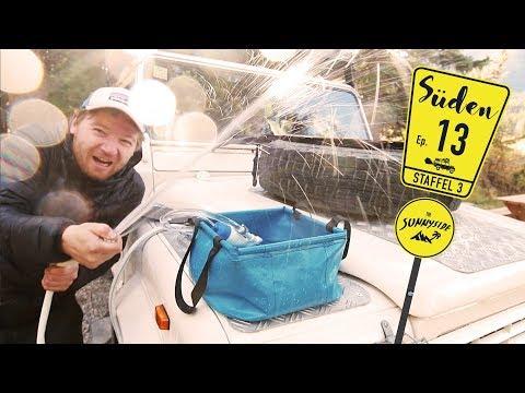 Heißes Wasser aus dem Camper Kotflügel   Warmwasser Wohnmobil Campingdusche   REISE-DOKU-VLOG³ N° 13