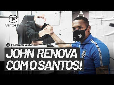 JOHN RENOVA COM O SANTOS!