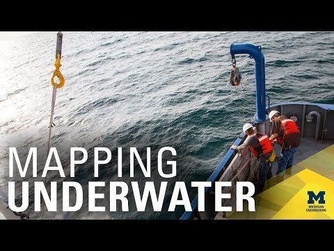 Mapping the seafloor using customized underwater robot