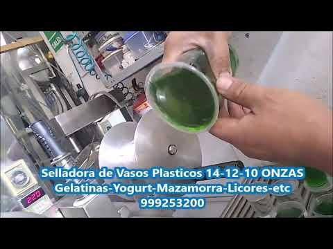 Selladora De Vasos Plasticos 14 12 10 ONZAS Gelatinas Yogurt Mazamorra Licores Etc Hd 1