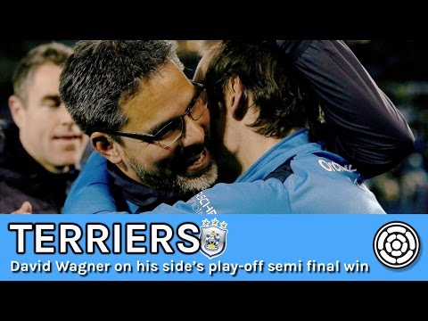 Terriers   David Wagner after play-off win over SWFC