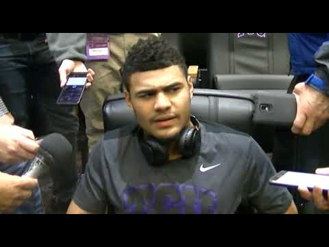 TCU QB Kenny Hill talks last game at ACS in win over Baylor