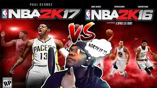 NBA 2K17 Is Out..Worth It?? (NBA 2k16 VS NBA 2K17) REAL GAMEPLAY/REVIEW/SIDE BY SIDE
