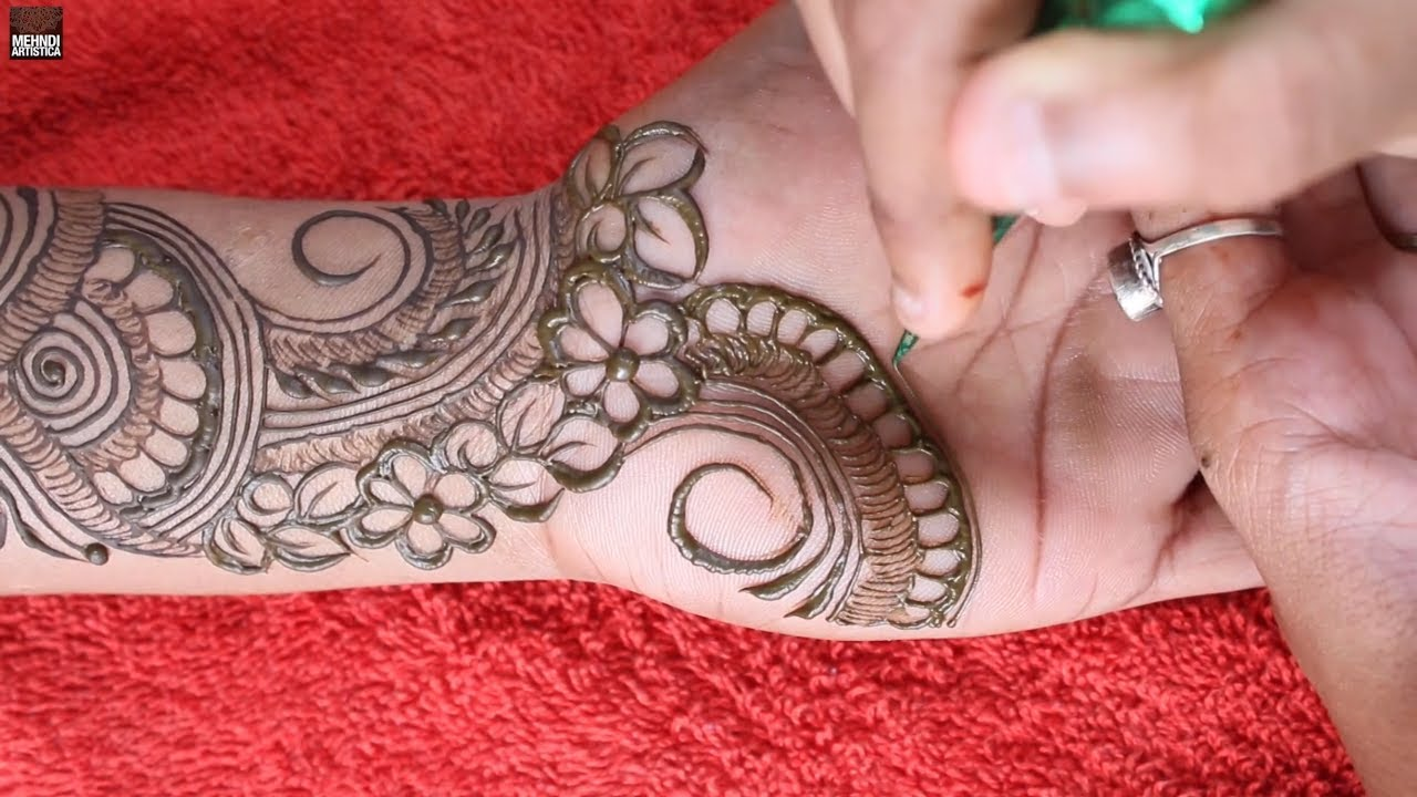 Diwali special basic mehndi design for beginners    learn henna mehendi design for hand  Mehandi art