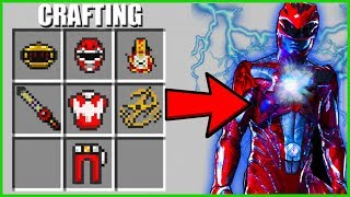 Minecraft - CRAFTING THE POWER RANGERS AND THERE ZORDS!!!