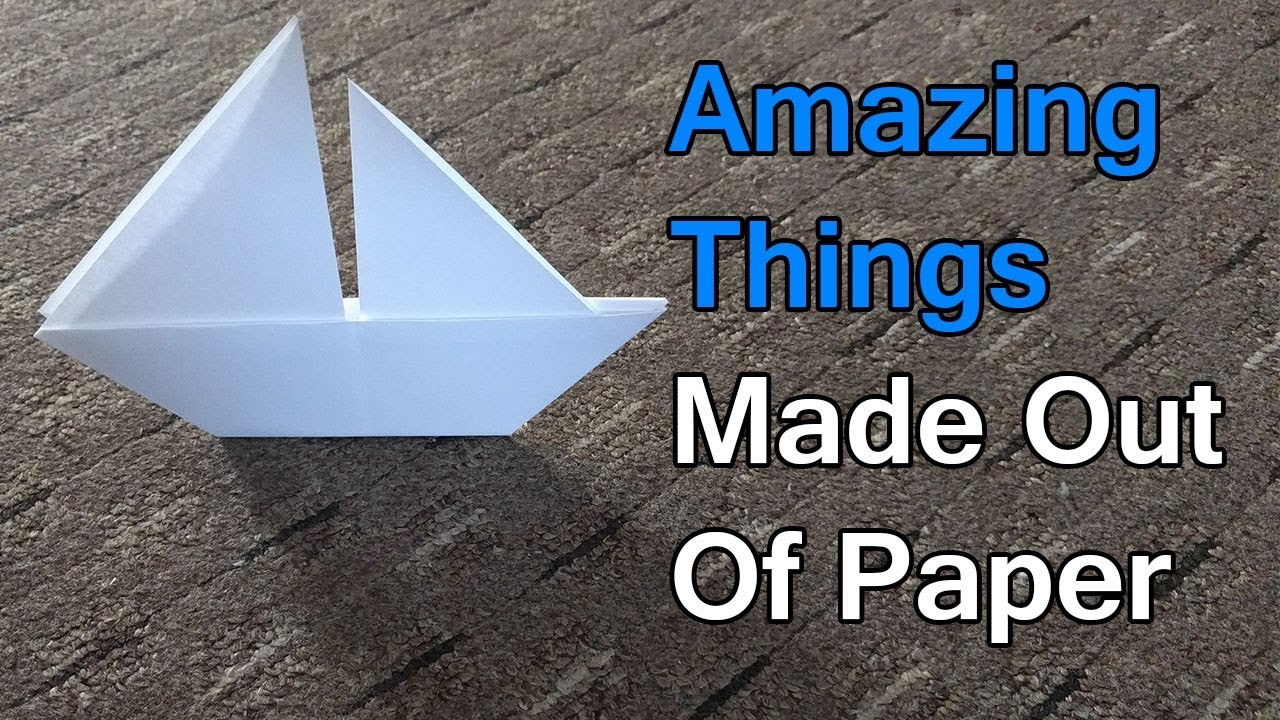 Amazing Things Made Out Of Paper 1