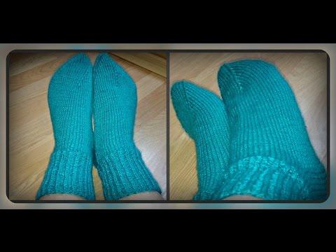 как связать носки на 2х спицах