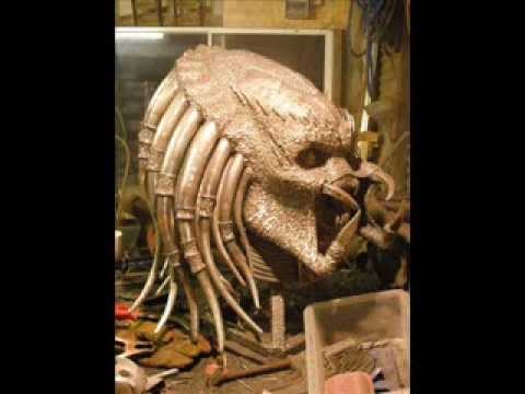 Predator Alien Sculpture Made From Metal Youtube