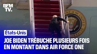 Joe Biden trébuche à trois reprises en montant dans Air Force One