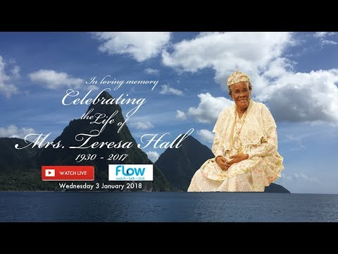 Celebrating the Life of Mrs Teresa Hall - SLPM, BEM