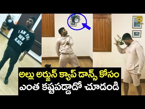 Allu Arjun CAP Tricks | Making Of Lover...