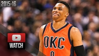 Russell Westbrook Triple-Double Highlights at Raptors (2016.03.28) - 26 Pts, 12 Ast, 11 Reb