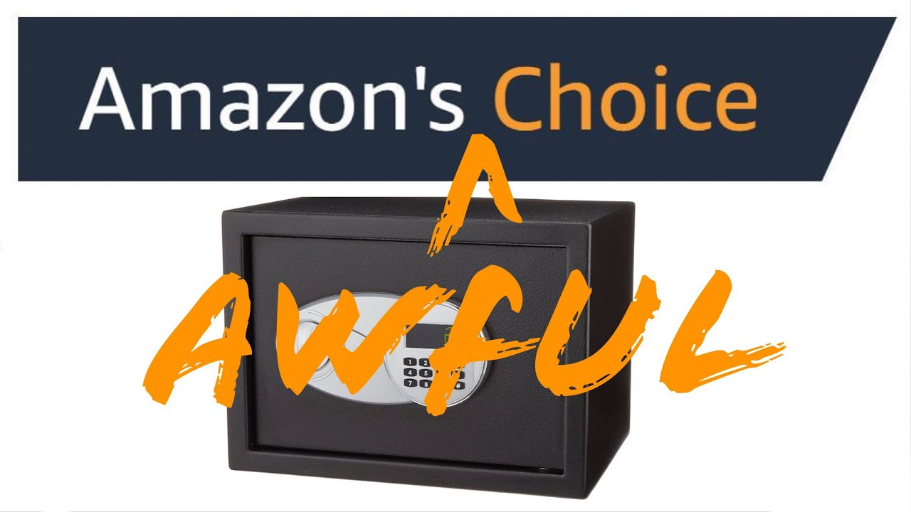 [859] Picked in 3 Seconds: AmazonBasics Security Safe