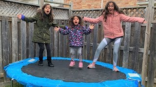 Ultimate Family Trampoline Gymnastics Competition!! sis vs sis
