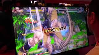 Dragon Ball FighterZ Gameplay w/ Beerus & Nappa (E3 2018 - Nintendo Switch)