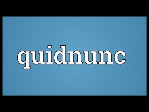 Quidnunc Meaning