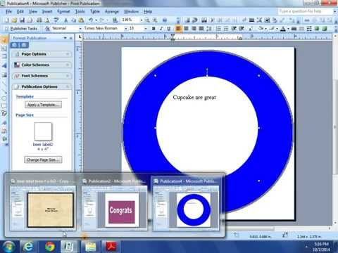 How to Make your own Labels, Tags and Printables with Microsoft Office Publisher /DIY Simple Labels
