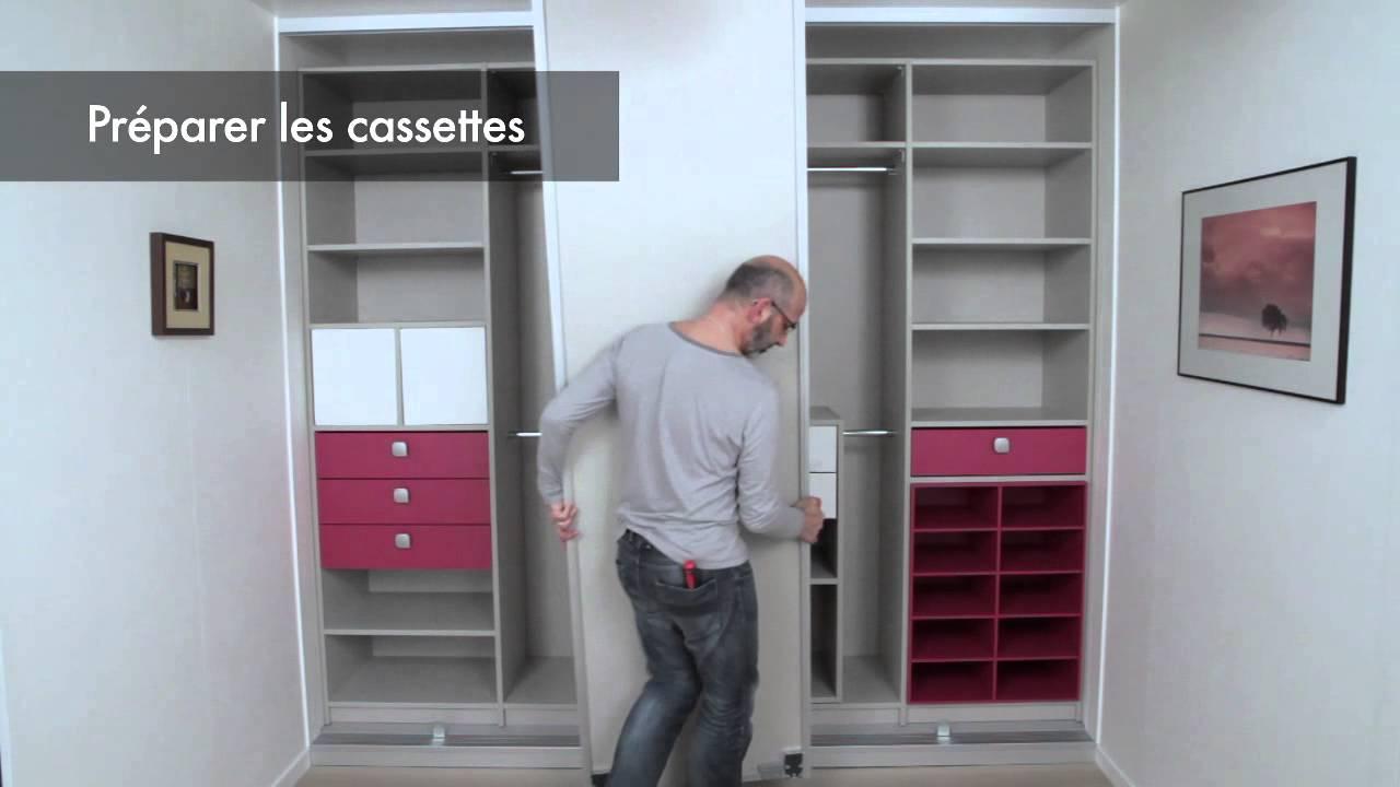 ets sogal vid o montage porte de placard motoris e 2014 youtube. Black Bedroom Furniture Sets. Home Design Ideas