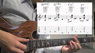 Jazz Guitar Walking Bass w/ Chords example