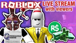🔴 Roblox Live Stream with Viewers! 🔴 ROBUX GIVEAWAY EVERY 100 SUBS! PLAYING JAILBREAK and MORE!