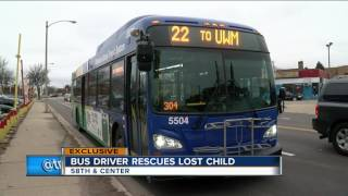 Bus driver finds boy wandering on street with no shoes, coat