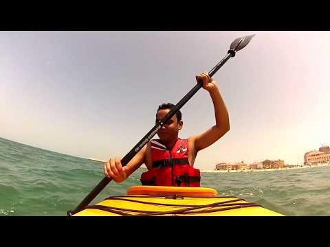 The Pearl Qatar kayaking