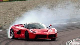 Ferrari LaFerrari burnout and drift