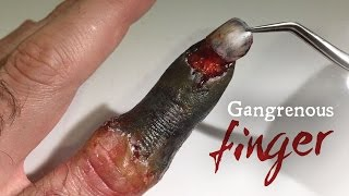 Gangrenous Finger SFX makeup tutorial