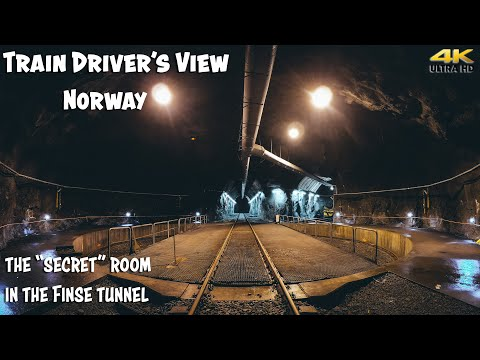 "TRAIN DRIVER'S VIEW: The ""secret"" Room In The Finse Tunnel"