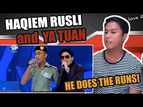 I Can See Your Voice Malaysia - Haqiem Rusli Ft. Ya Tuan | SINGER REACTS
