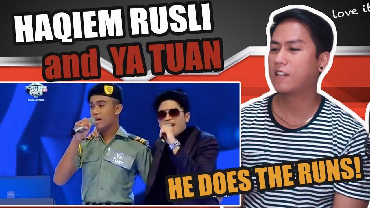 I Can See Your Voice Malaysia - Haqiem Rusli Ft. Ya Tuan | SINGER REACTS