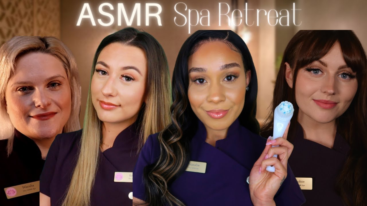 ASMR Spa Day Roleplay | 4 ASMRtists, Ultimate 4 Treatment Pamper Experience