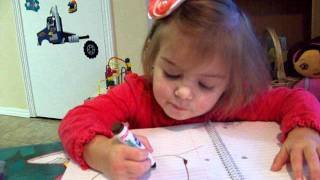 Two Year Old Drawing Pictures.   Cute Kid - Lilah