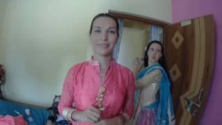 Серия 9 Подготовка к свадьбе, примерка сари, обзор нашего наряда в индийском стиле