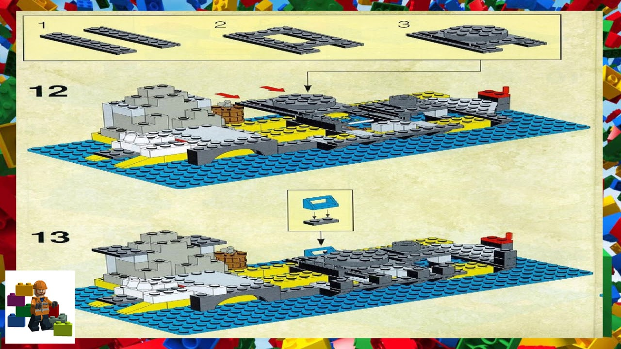 Lego Instructions Pirates 6296 Shipwreck Island Youtube