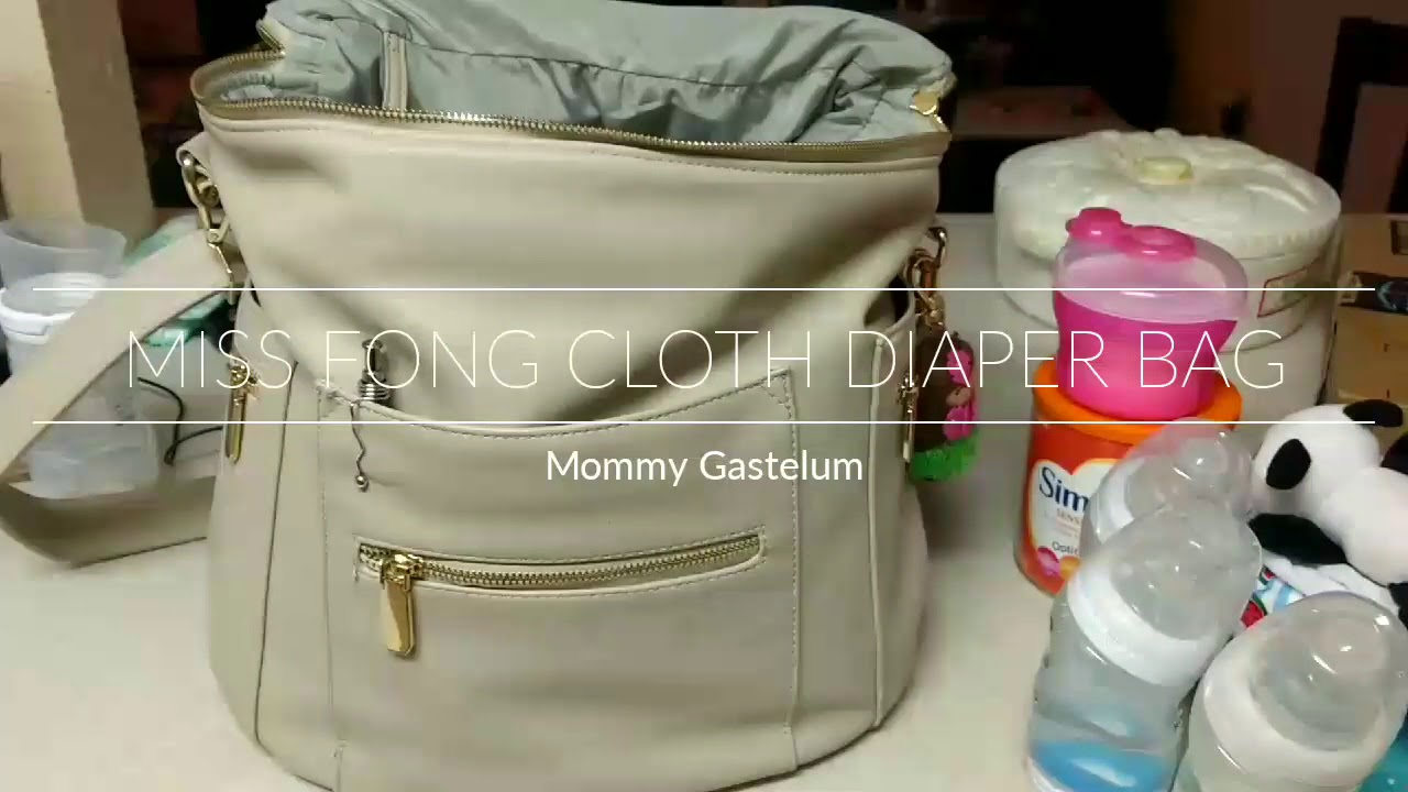 Ng Miss Fong Diaper Bag With Cloth Diapers