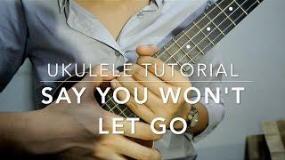 Say You Won't Let Go (Ukulele Tutorial) Mp3