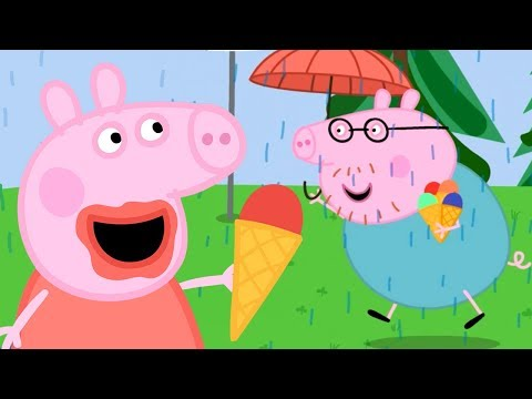 Peppa Pig English Episodes | Ice Cream On A Rainy Day For Peppa Pig | Peppa Pig Official