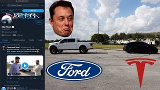 Elon Musk Retweeted Our Video   The Truth About The Ford vs  Tesla Tug-of-war