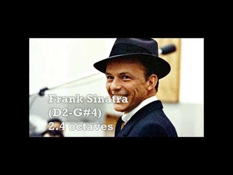 FRANK SINATRA - VOCAL RANGE (D2-G♯4)