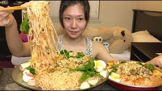 [EATING SHOW]【吃播】干捞螺蛳粉 DRY RIVER SNAILS RICE NOODLE