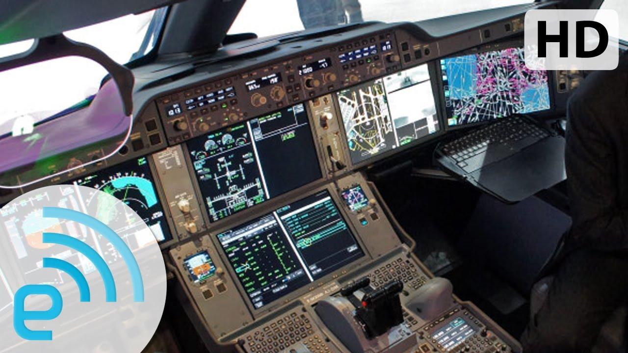Airbus A350 cockpit tour with test pilot Jean-Michel Roy | Engadget at  Paris Airshow 2013