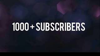 FJ creations l 1000+ Subscribers l victory time