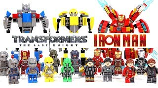 Transformers Iron Man Optimus Prime Bumblebee Megatron Mini Mechs Unofficial LEGO Minifigures