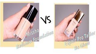 Espoir Pro Tailor Foundation vs Missha Radiance Foundation ...