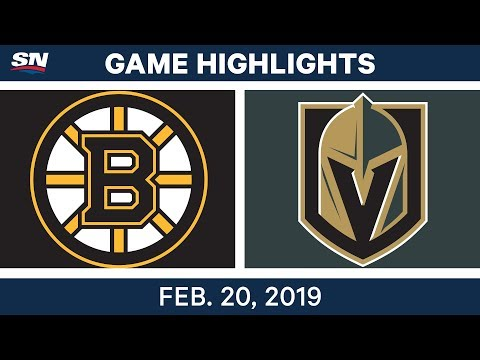 NHL Highlights | Bruins vs. Golden Knights - Feb 20, 2019