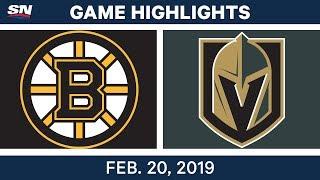 NHL Highlights | Bruins vs. Golden Knights - Feb 20, 2019