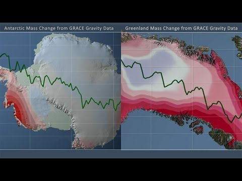 Antarctic & Greenland Ice Mass Loss 2004 -2014