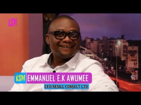KSM Show- Emmanuel E.K Awumee, C.E.O of Sesill consult hanging out with KSM